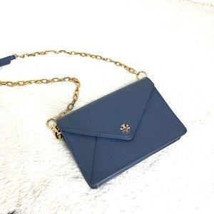 🌸OFFERS?🌸Tory Burch Leather Blue Crossbody